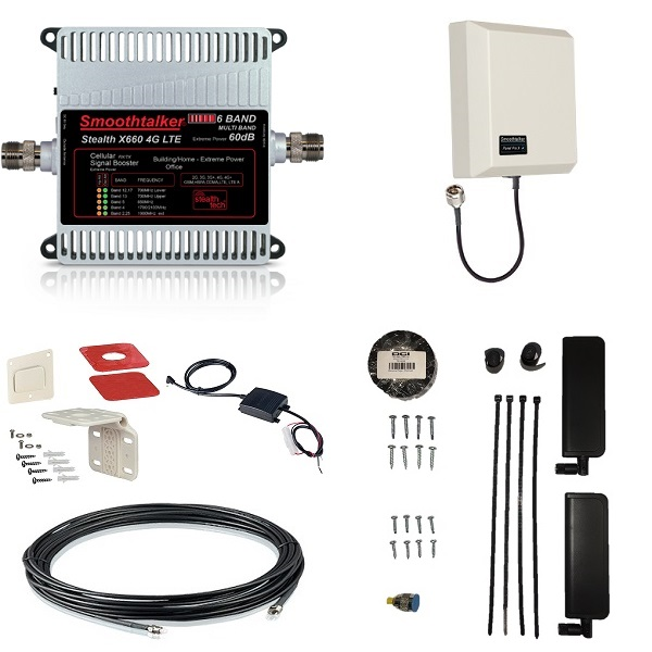 Cellular Repeater Retrofit Kit - 60 dB with Panel Antenna