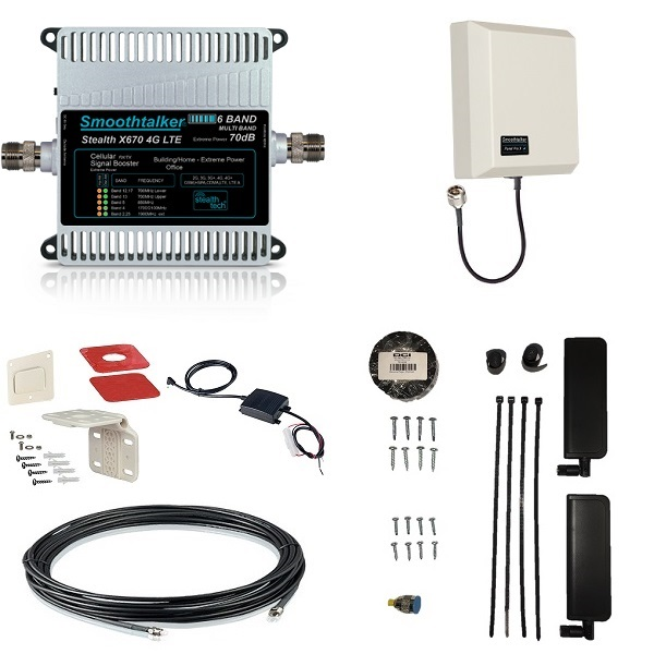Cellular Repeater Retrofit Kit - 70 dB with Panel Antenna
