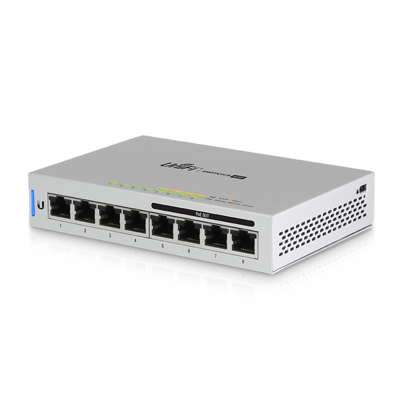 UniFi 60W 8-Port Switch, 4 PoE Ports (802.3f Compliant)
