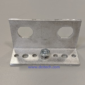 Polyphaser Angle Bracket - Dual - with nut and washer
